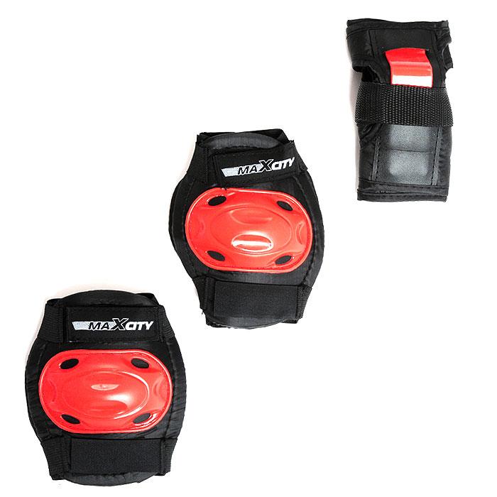 Защита роликовая MaxCity Bug, цвет: черный, красный. Размер S2770960253812