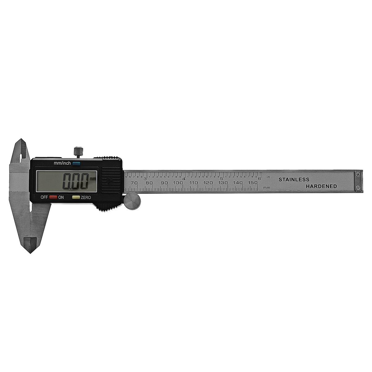 Штангенциркуль электронный Fit Digital Caliper, 15 см19856Штангенциркуль электронный Fit предназначен для измерений наружных и внутренних линейных размеров, а так же для измерения глубин. Применяется в машиностроении, приборостроении и других отраслях промышленности.