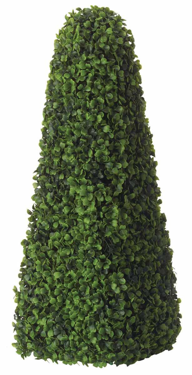 Растение искусственное Topiary Obelisk. Самшит, высота 60 см02805Искусственное растение Topiary Obelisk. Самшит, выполненное из пластика на проволочном каркасе в виде лиственного куста, великолепно украсит интерьер офиса, дома или дачи. Такое растение устойчиво к воздействию солнечных лучей и погодных условий. Идеально для декора помещений на свежем воздухе (веранды, балконы и т.д.). Не намокает и не выцветает. Искусственное растение Topiary Obelisk. Самшит оригинально украсит ваш дом или сад и станет замечательным дизайнерским решением.