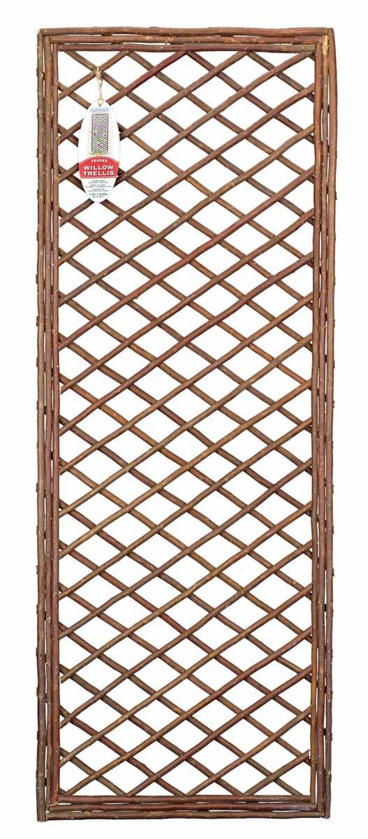 Панель решетчатая Gardman, 1,2 м x 45 см07521Решетчатая панель Gardman изготовлена из ивовых прутьев. Панель можно использовать для поддержки вьющихся растений или как экран, разграничивающий пространство. Решетчатая панель Gardman оригинально украсит ваш дом или сад и станет замечательным дизайнерским решением.