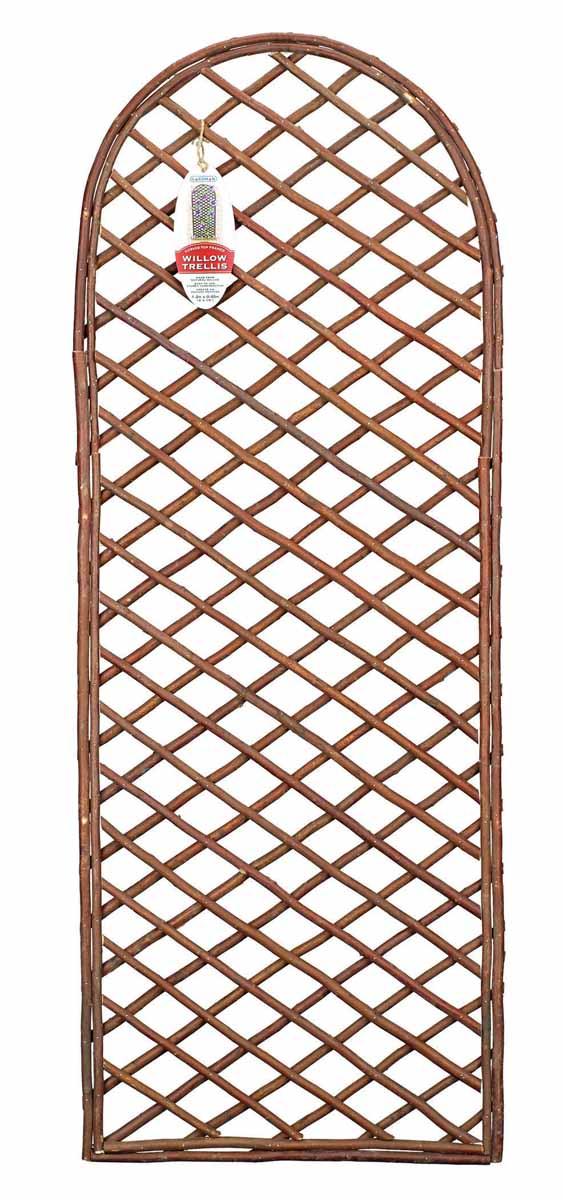 Панель решетчатая Gardman, с закругленным верхом, 1,2 м x 45 см07522Решетчатая панель Gardman изготовлена из ивовых прутьев. Панель можно использовать для поддержки вьющихся растений или как экран, разграничивающий пространство. Решетчатая панель Gardman оригинально украсит ваш дом или сад и станет замечательным дизайнерским решением.