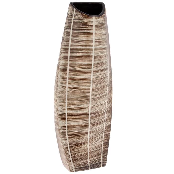 Ваза для цветов Конго, высота 39 смSDJ-602730-2-ALЭлегантная ваза Конго, выполненная из керамики, послужит отличным дополнением к интерьеру вашего дома. Необычная форма и бежево-коричневый цвет вазы будут прекрасно сочетаться с ярким высоким букетом. Эксклюзивная ваза подчеркнет оригинальность интерьера и прекрасный вкус хозяина. Создайте в своем доме атмосферу уюта, преображая интерьер стильными, радующими глаза предметами. Также ваза может стать хорошим подарком вашим друзьям и близким.