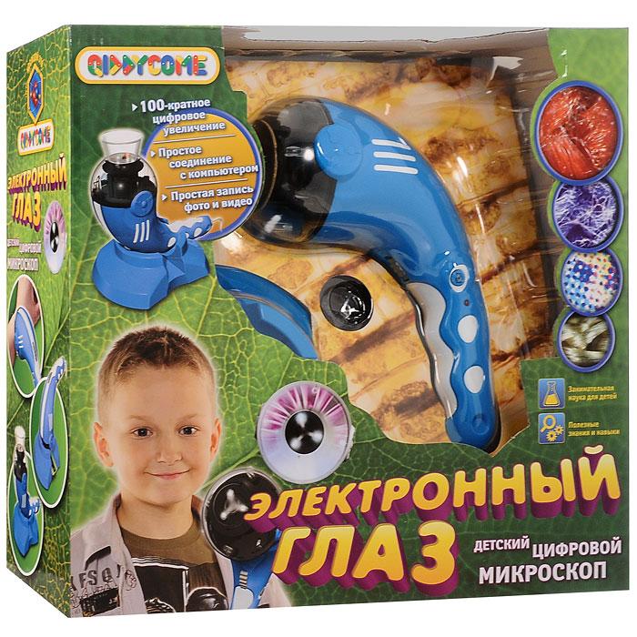Научно-познавательный набор Qiddycome Электронный глазST-BL903С помощью научно-познавательного набора Qiddycome Электронный глаз дети в доступной игровой форме познакомятся с удивительными явлениями и предметами окружающего мира. Набор включает цифровой микроскоп с USB-кабелем, подставку, прозрачный стаканчик, набор готовых микро-слайдов (чешуя рыбы, кусочек змеиной кожи, птичье перо и части кузнечика) и иллюстрированную инструкцию-руководство на русском языке с примерами экспериментов. Электронный глаз - это стократное увеличение, простое соединение с компьютером через USB-порт, простая запись фото и видеоматериалов исследований, оригинальный портативный корпус. Научно-познавательный набор Электронный глаз - лучший подарок юному исследователю!