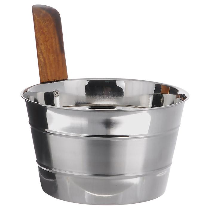 Бадья Банные штучки, нержавеющая сталь, 4 л32031Бадья Банные штучки выполнена из нержавеющей стали и оснащена удобной деревянной рукояткой. Бадья станет незаменимым аксессуаром для отдыха в бане или сауне. Характеристики: Материал: нержавеющая сталь, дерево. Объем: 4 л. Диаметр бадьи по верхнему краю: 22 см. Высота стенки бадьи: 15 см. Длина рукоятки: 17 см.