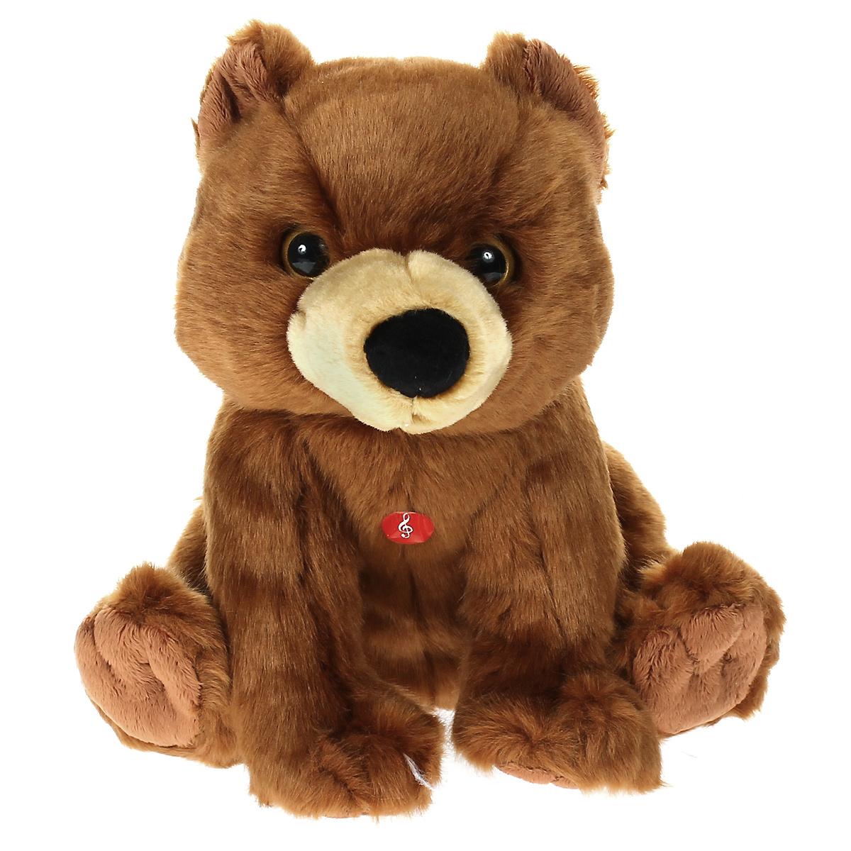 Мягкая озвученная игрушка Wiki Zoo Медведь, 23 см7579Мягкая озвученная игрушка Wiki Zoo Медведь вызовет улыбку у каждого, кто ее увидит. Она выполнена из приятного на ощупь текстильного материала коричневого цвета в виде симпатичного мишки. Если нажать ему на грудь, он расскажет ребенку интересные факты о своей среде обитания, любимой еде, образе жизни и многом другом. В комплект также входит буклет с познавательными фактами о медведях. Игрушка подарит своему обладателю хорошее настроение и позволит познакомиться с животным в игровой форме. С мягкой игрушкой WikiZoo ребенок действительно познает мир, играя!