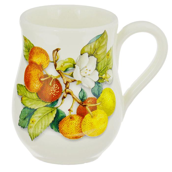 Кружка Nuova Cer Итальянские фрукты, 320 мл. NC7400-CEM-ALNC7400-CEM-ALКружка Nuova Cer Итальянские фрукты изготовлена из высококачественной керамики. Изделие оформлено красочным изображением фруктов. Кружка имеет толстые стенки, благодаря чему напиток дольше остается горячим. Изысканная кружка прекрасно оформит стол к чаепитию и станет его неизменным атрибутом. Не рекомендуется использовать в СВЧ и мыть в посудомоечной машине. Характеристики: Материал: керамика. Цвет: бежевый. Объем: 320 мл. Диаметр (по верхнему краю): 8 см. Высота кружки: 11,5 см.