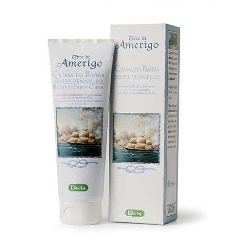 Derbe Крем для бритья Terre Di Amerigo, 125 млA901521993Крем без мыла для бритья Derbe Terre Di Amerigo подходит для самой чувствительной кожи, склонной к образованию трещин и порезов после бритья, для кожи, склонной к покраснению и раздражению. Смягчает и увлажняет.