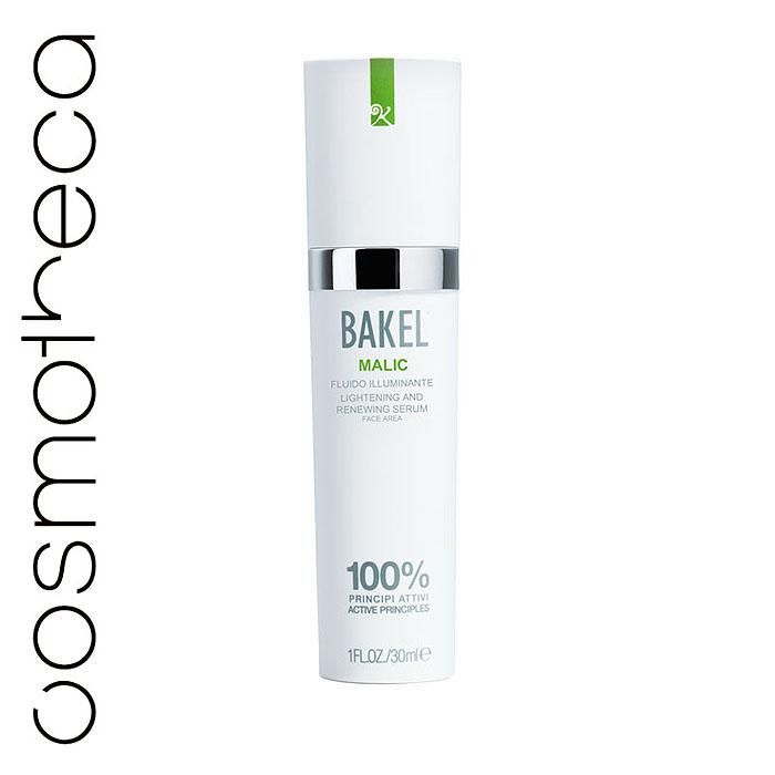 Bakel Сыворотка Malic для лица, обновляющая и придающая сияние, 30 млMALICИнновационная сыворотка Bakel Malic содержит яблочную кислоту, миндальную кислоту, винную кислоту и койевую кислоту, которые действуют в синергии, способствуя удалению мертвых клеток кожи и приданию ей сияния. Сыворотка помогает восстановить ровный цвет кожи и улучшает ее тон. Средство не нужно смывать.
