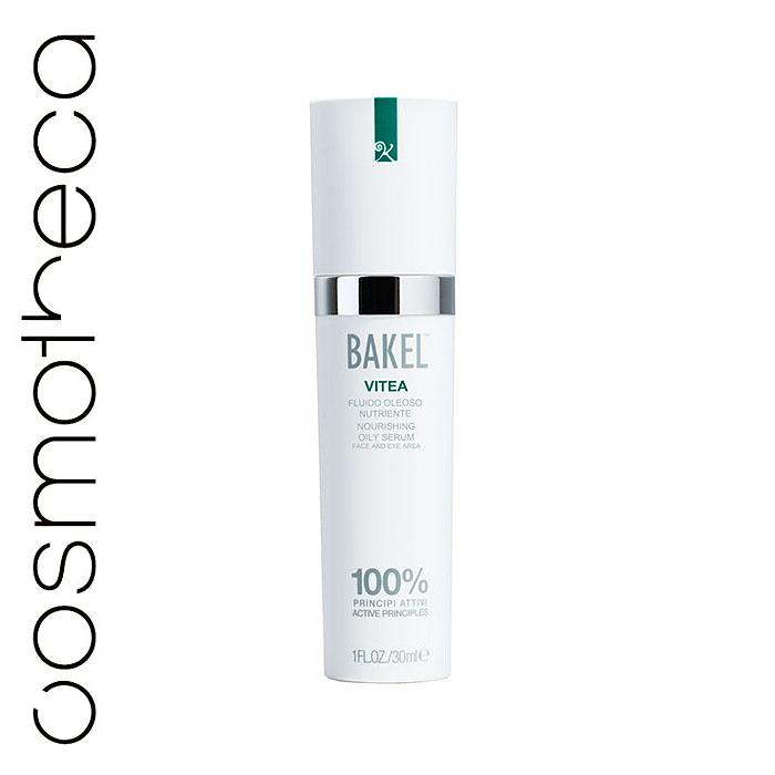 Bakel Сыворотка Vitea для лица и контура глаз, масляная, питательная, 30 млVITEAЖирная сыворотка Bakel Vitea содержит: витамин E, являющийся важнейшим компонентом в борьбе против свободных радикалов, ответственных за оксидативный стресс и преждевременное старение кожи; витамин A, предотвращающий процессы старения, типичные для сухой кожи, и уменьшающий обвисание кожи; масло абрикоса с его уникальным успокаивающим, питающим и смягчающим действием; диоксид кремния, обладающий способностями к обновлению кожи.