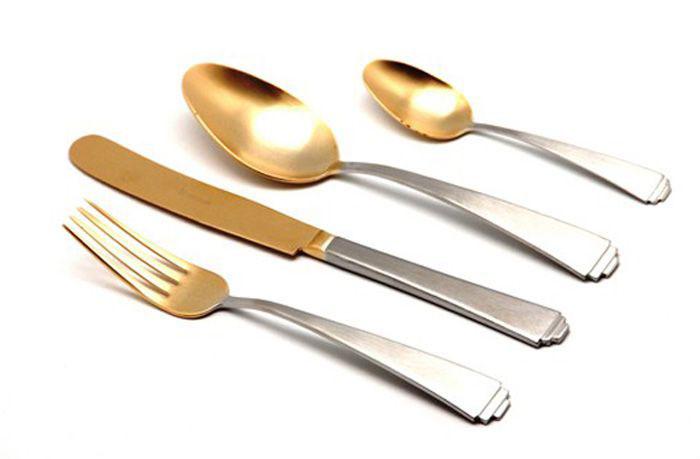 Набор столовых приборов Herdmar Spiga Old Gold, 24 предмета08030241600E1308030241600E13 SPIGA OLD GOLD 24 пр.