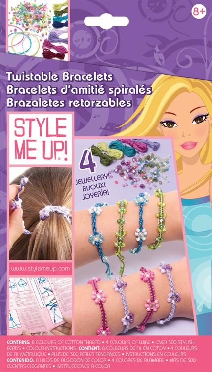 Набор для создания украшений Style Me Up Закручивающиеся браслеты. 552552Набор для создания украшений Style Me Up Закручивающиеся браслеты, несомненно, привлечет внимание вашей малышки, ведь с его помощью она сможет создать оригинальные браслеты. Набор состоит из разноцветных бусин, ниток, проволоки и дополнительных аксессуаров. Украшения, созданные своими руками, привлекут внимание окружающих и могут стать отличным подарком друзьям и близким.