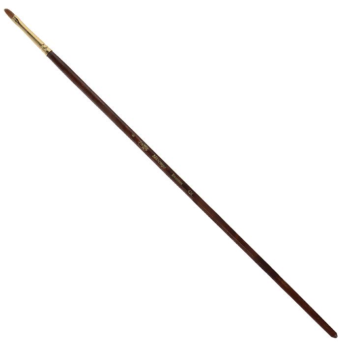 Кисть художественная Гамма Маэстро, колонок, овальная, №6426.006Колонок - промысловый зверек, относится к виду хищных млекопитающих из рода ласок и хорей. Его мех высоко ценится, а длинные волоски из хвоста идут на кисти для художников. Волос колонковых кистей тонкий, упругий имеет коническую форму. Пучок колонковой кисти состоит из волосков разной длины, которые при соприкосновении наполненной кисти с поверхностью, создают капиллярный поток. С кончика кисти краска стекает непрерывным потоком и с превосходной консистенцией. Они предназначены для художественных работ с акварелью, маслом, темперой, гуашью и акрилом.
