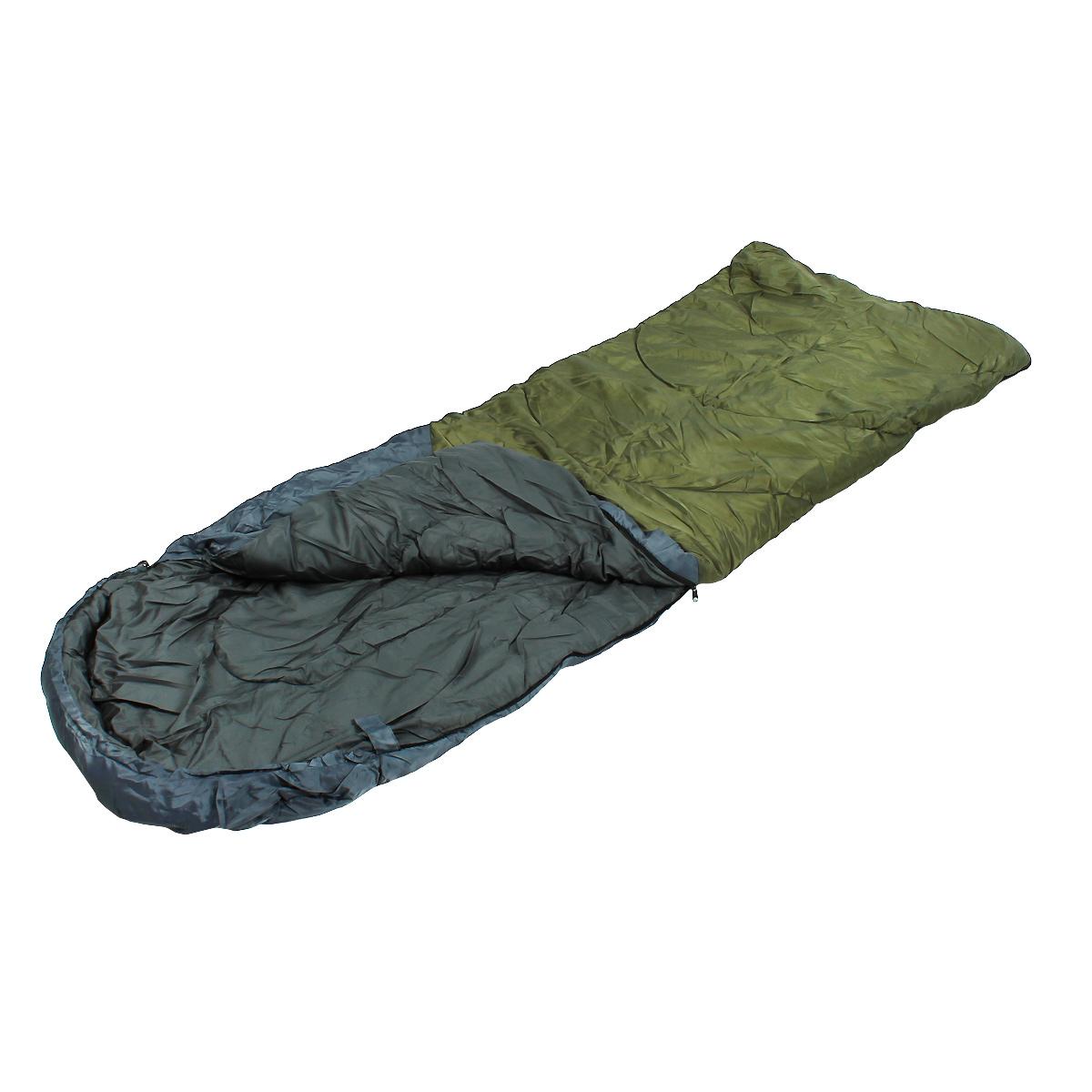 Спальный мешок-одеяло Happy Camper с подголовником, цвет: синий, зеленый