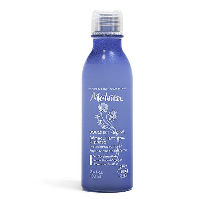 Melvita Лосьон для снятия макияжа с глаз, двухфазный, 100 мл027841Ультрамягкий и нежирный лосьон Melvita для снятия макияжа с глаз эффективно снимает макияж и водостойкую тушь. Этот двухфазный лосьон включает успокаивающие и увлажняющие активные ингредиенты и мягкие очищающие вещества. Вода василька, ромашка и лотус удаляют все следы подводки и уменьшают мешки под глазами. Благодаря смягчающим свойствам сквалена оливы бережно снимает тушь с ресниц. Органическое алоэ вера укрепляет и защищает нежную кожу вокруг глаз. Лосьон не содержит отдушек и придает векам комфорт, оставляя после себя ощущение приятной свежести. Способ применения : хорошо встряхните флакон перед использованием, чтобы две фазы равномерно перемешались. Налейте небольшое количество лосьона на ватный тампон и осторожно протрите веки и ресницы круговыми движениями. Не смывать.