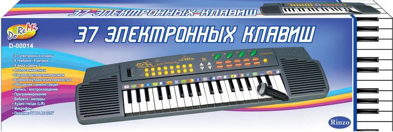 Синтезатор DoReMi, 37 клавиш, с микрофоном. D-00014D-00014Яркий синтезатор DoReMi привлечет внимание вашего ребенка и доставит ему много удовольствия от часов, посвященных игре с ним. Синтезатор имеет 37 музыкальных клавиш и множество кнопок, позволяющих добавлять различные звуковые эффекты при составлении мелодий, менять темп и ритм музыки. Также можно произвести запись мелодий. Особенности: - 8 тембров/8 ритмов; - 4 вида ударных; - 4 голоса животных; - 22 уровня управления ритмом; - 8 уровней управления громкостью; - Обозрение/демонстрация; - Запись/воспроизведение; - Программирование; - Вибрато/аккорды; - Аудио гнездо (L/R); - Микрофон. В комплект с синтезатором входит микрофон. С помощью этого синтезатора ребенок сможет развить свои музыкальные способности и порадовать друзей и близких великолепным концертом. Порадуйте его таким замечательным подарком! Синтезатор работает от 6 батареек типа АА.