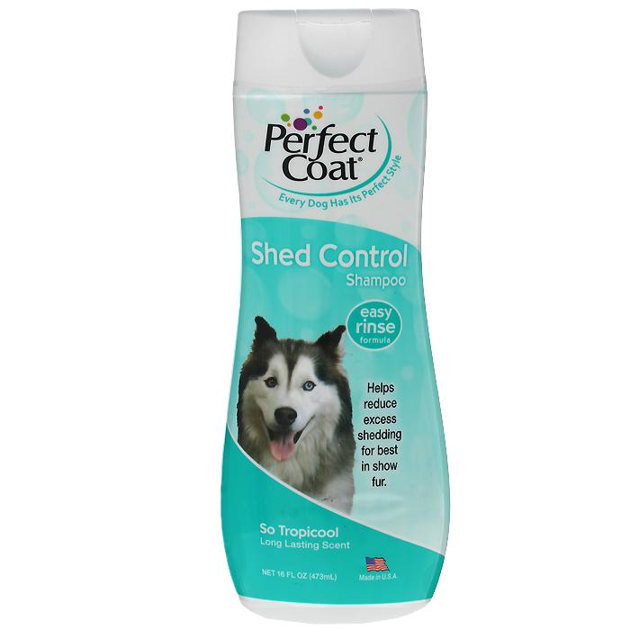 "Шампунь для собак 8 in 1 ""Perfect Coat"", против линьки, 473 мл"