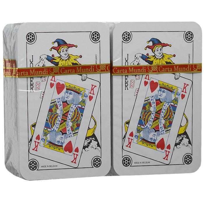 """Пасьянсный набор Тузы, 2 х 54 листа. 10686500311068650031Пасьянсный набор """"Тузы"""" состоит из двух миниатюрных колод игральных карт, выполненных из картона с пластиковым покрытием. Карты предназначены для раскладывания пасьянсов, а также для любых других карточных игр."""