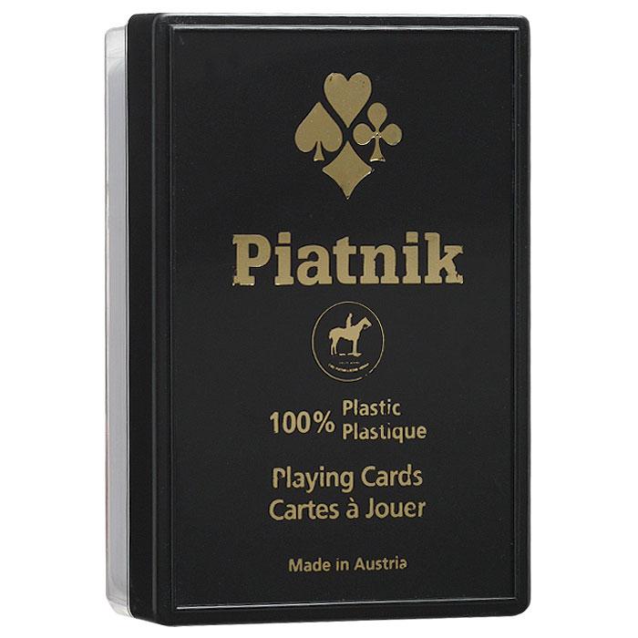 Карты игральные Piatnik Бридж, цвет рубашки: красный, 55 карт. 1364к1364кИгральные карты выполнены из 100% пластика с рубашкой красного цвета и предназначены для игры в бридж. Карты имеют стандартный индекс, гладкую поверхность и стандартный размер.