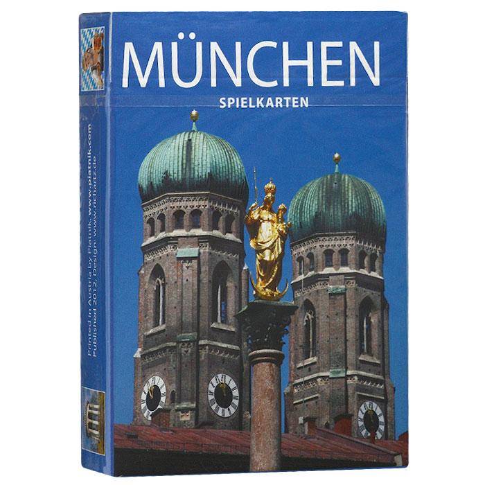Карты игральные коллекционные Piatnik Мюнхен, 55 карт. 13561356Коллекционные игральные карты выполнены из картона с пластиковым покрытием и оформлены фотографиями с изображением видов Мюнхена. Карты имеют стандартный индекс, гладкую поверхность и стандартный размер.