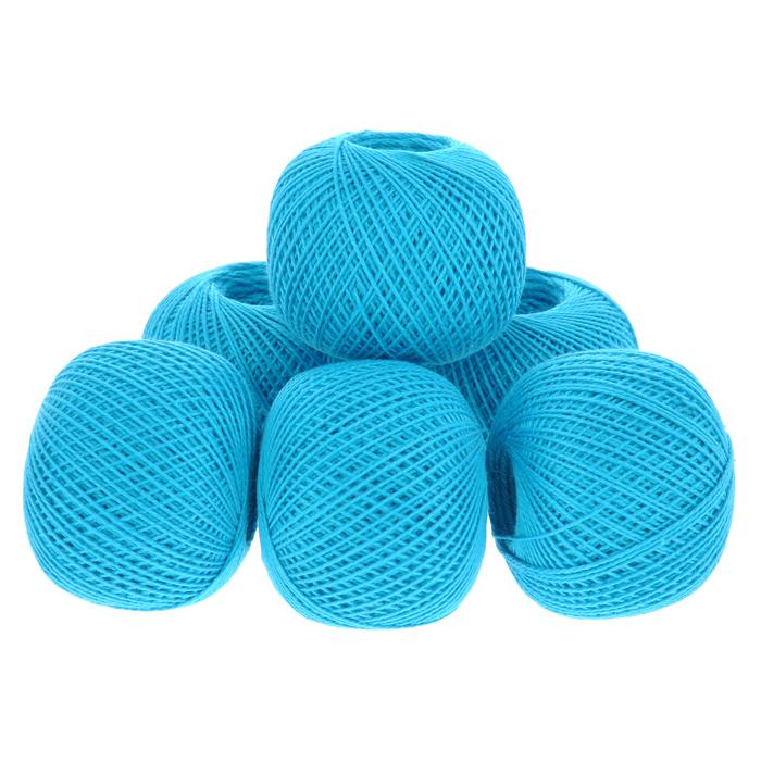 Нитки вязальные Ирис, хлопчатобумажные, цвет: насыщенный аквамарин (3010), 150 м, 25 г, 6 шт0211102127778Вязальные нитки в 2 сложения Ирис изготовлены из 100% хлопка. Такие нитки используются для вязания крючком. Нити крученые, матовые, мерсеризованные. Устойчивость окраски - особо прочная. В наборе - 6 клубков. С их помощью вы сможете связать своими руками необычные и красивые вещи.