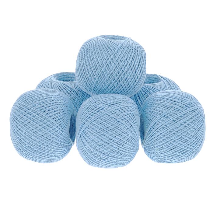 Нитки вязальные Ирис, хлопчатобумажные, цвет: голубой (2704), 150 м, 25 г, 6 шт0211102100778Вязальные нитки в 2 сложения Ирис изготовлены из 100% хлопка. Такие нитки используются для вязания крючком. Нити крученые, матовые, мерсеризованные. Устойчивость окраски - особо прочная. В наборе - 6 клубков. С их помощью вы сможете связать своими руками необычные и красивые вещи.