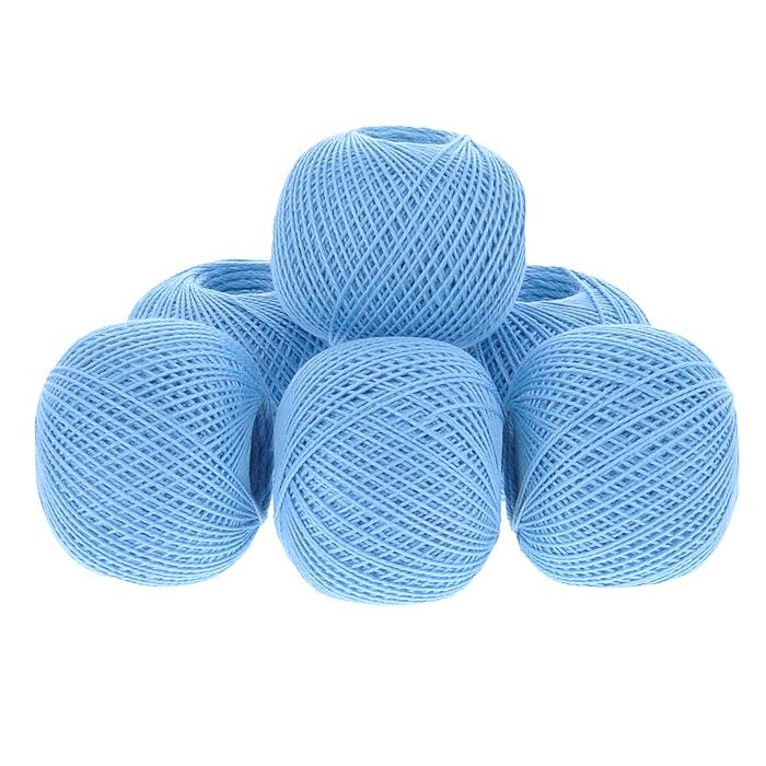 Нитки вязальные Ирис, хлопчатобумажные, цвет: голубой (3104), 150 м, 25 г, 6 шт0211102133778Вязальные нитки в 2 сложения Ирис изготовлены из 100% хлопка. Такие нитки используются для вязания крючком. Нити крученые, матовые, мерсеризованные. Устойчивость окраски - особо прочная. В наборе - 6 клубков. С их помощью вы сможете связать своими руками необычные и красивые вещи.