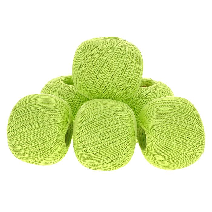 Нитки вязальные Ирис, хлопчатобумажные, цвет: салатный (4706), 150 м, 25 г, 6 шт0211102272778Вязальные нитки в 2 сложения Ирис изготовлены из 100% хлопка. Такие нитки используются для вязания крючком. Нити крученые, матовые, мерсеризованные. Устойчивость окраски - особо прочная. В наборе - 6 клубков. С их помощью вы сможете связать своими руками необычные и красивые вещи.