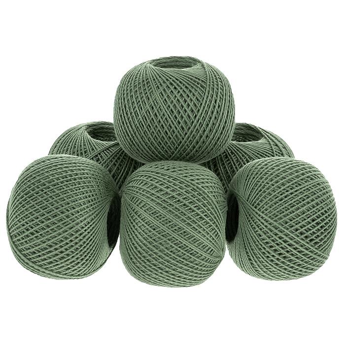Нитки вязальные Ирис, хлопчатобумажные, цвет: олива (6704), 150 м, 25 г, 6 шт0211102452778Вязальные нитки в 2 сложения Ирис изготовлены из 100% хлопка. Такие нитки используются для вязания крючком. Нити крученые, матовые, мерсеризованные. Устойчивость окраски - особо прочная. В наборе - 6 клубков. С их помощью вы сможете связать своими руками необычные и красивые вещи.