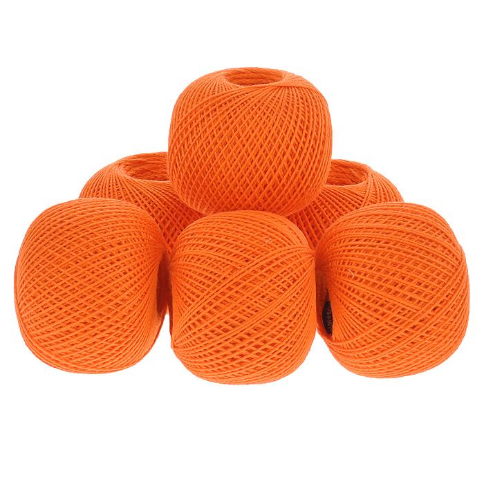 Нитки вязальные Ирис, хлопчатобумажные, цвет: оранжевый (0710), 150 м, 25 г, 6 шт0211101901778Вязальные нитки в 2 сложения Ирис изготовлены из 100% хлопка. Такие нитки используются для вязания крючком. Нити крученые, матовые, мерсеризованные. Устойчивость окраски - особо прочная. В наборе - 6 клубков. С их помощью вы сможете связать своими руками необычные и красивые вещи.