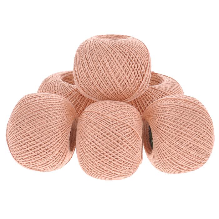 Нитки вязальные Ирис, хлопчатобумажные, цвет: светлый персик (1602), 150 м, 25 г, 6 шт0211101988778Вязальные нитки в 2 сложения Ирис изготовлены из 100% хлопка. Такие нитки используются для вязания крючком. Нити крученые, матовые, мерсеризованные. Устойчивость окраски - особо прочная. В наборе - 6 клубков. С их помощью вы сможете связать своими руками необычные и красивые вещи.