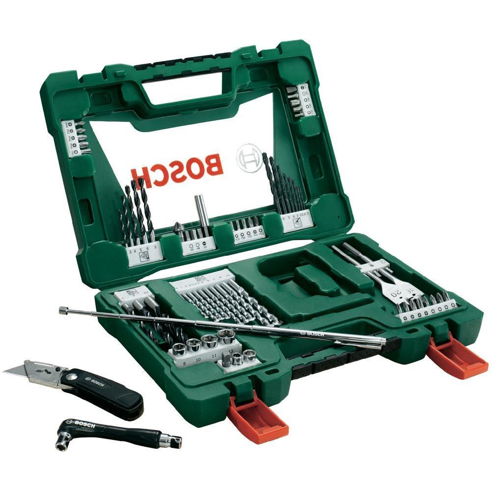 Набор принадлежностей Bosch V-Line, 68 предметов2607017191Набор инструментов Bosch V-Line предназначен для монтажа и демонтажа резьбовых соединений. Все инструменты в наборе изготовлены из высококачественной стали. Это необходимый предмет в каждом доме, набор станет незаменимым в Вашем хозяйстве. В набор входят: Сверла по металлу: 2, 2, 2,5, 3, 3, 4, 5, 6 мм; Сверла по дереву: 4, 5, 5,5, 5,5, 6, 6, 7, 8, 10 мм; Сверла по камню: 3, 4, 5, 6, 6, 7, 8, 10 мм; Перьевые сверла: 16 мм и 20 мм; Биты 25 мм: PH0, PH1, PH2, PH2, PH3; Биты 25 мм: PZ 0, PZ1, PZ2, PZ2, PZ3; Биты 25 мм: SL4, SL5, SL6, SL7; Биты 25 мм: T10, T10, T15, T15, T20, T20, T25, T30, T30, T40; Биты 25 мм: H3, H4, H5, H6; Торцовые головки: 6, 8, 9, 10, 11, 13 мм; Нож; Зенкер; Магнитный держатель; Двухсторонний держатель; Магнитный щуп (длина 65 см).