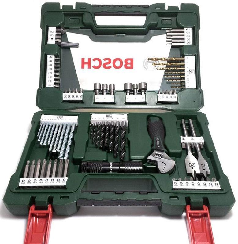 Набор принадлежностей Bosch V-Line, 83 предмета2607017193Набор инструментов Bosch V-Line предназначен для монтажа и демонтажа резьбовых соединений. Все инструменты в наборе изготовлены из высококачественной стали. Это необходимый предмет в каждом доме, набор станет незаменимым в вашем хозяйстве. В набор входят: Сверла по металлу: 2, 2, 2,5, 3, 3, 4, 5, 6 мм; Сверла по дереву: 3, 4, 5, 5,5, 5,5, 6, 6, 7, 8, 10 мм; Сверла по камню: 3, 4, 5, 6, 6, 7, 8, 10 мм; Перьевые сверла: 16 мм и 20 мм; Биты 25 мм: PH0, PH0, PH1, PH1, PH2, PH2, PH3, PH3; Биты 25 мм: PZ0, PZ0, PZ1, PZ1, PZ2, PZ2, PZ3, PZ3; Биты 25 мм: SL4, SL5, SL6; Биты 25 мм: T10, T10, T15, T15, T20, T20, T25, T25, T30, T40; Биты 25 мм: H4, H5, H6; Биты 50 мм: PH0, PH1, PH2, PH3; Биты 50 мм: PZ0, PZ1, PZ2, PZ3; Биты 50 мм: SL5; Биты 50 мм: T15, T20; Биты 50 мм: H5, H6; Раздвижной гаечный ключ; Торцовые головки: 6, 7, 8, 10, 12, 13 мм; Светодиодный фонарь; Зенкер; Магнитный...