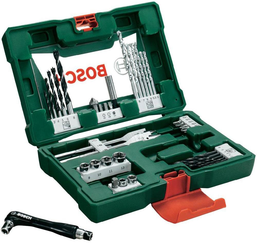 Набор принадлежностей Bosch V-Line, 41 предмет2607017316Набор инструментов Bosch V-Line предназначен для монтажа и демонтажа резьбовых соединений. Все инструменты в наборе изготовлены из высококачественной стали. Это необходимый предмет в каждом доме, набор станет незаменимым в Вашем хозяйстве. В набор входят: Сверла по металлу: 2, 2, 3, 3, 4, 5, 6 мм; Сверла по дереву: 5, 5,5, 6, 6, 7, 8 мм; Сверла по камню: 3, 4, 5, 6, 8 мм; Перьевые сверла: 16 мм и 20 мм; Биты 25 мм: PH1, PH2; Биты 25 мм: PZ1, PZ2; Биты 25 мм: SL4, SL5, SL6; Биты 25 мм: T20; Биты 25 мм: H4, H5, H6; Торцовые головки: 6, 8, 9, 10, 11, 13 мм; Зенкер; Магнитный держатель для бит; Двухсторонний держатель для бит.