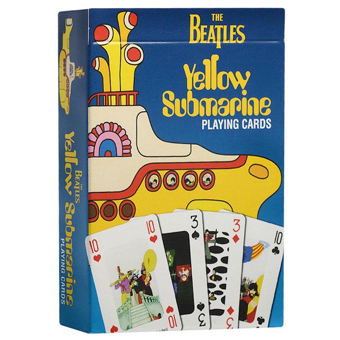 """Карты игральные коллекционные Cartamundi THE BEATLES: Yellow Submarine, 54 карты. 106668324106668324Коллекционные игральные карты выполнены из картона с пластиковым покрытием. В основу оформления колоды легли постеры, посвященные знаменитой песне и одноименному фильму """"Желтая подводная лодка"""" легандарной группы The Beatles. Карты имеют стандартный индекс, гладкую поверхность и стандартный размер."""