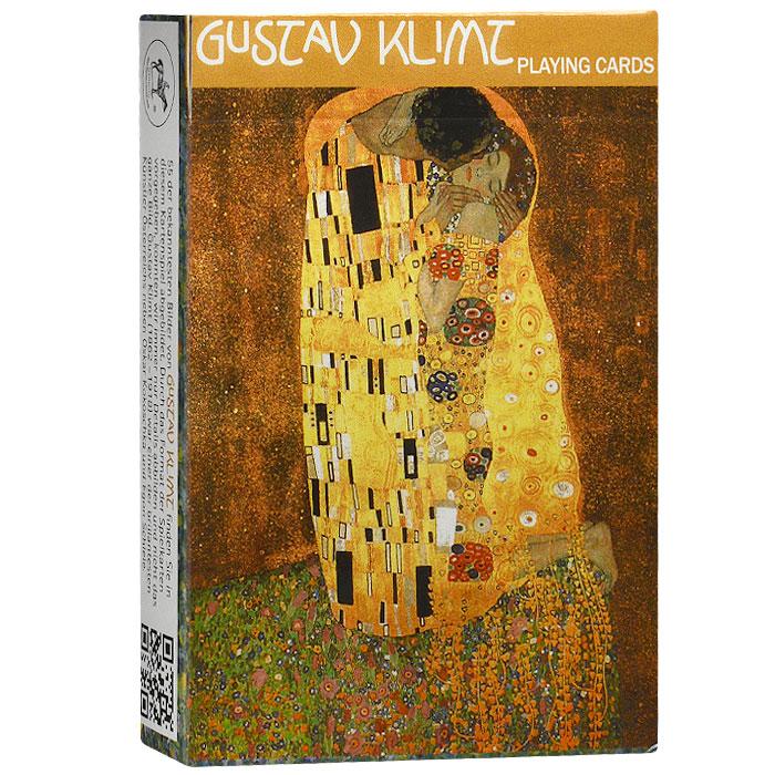 Коллекционные игральные карты Густав Климт, 55 листов. 16151615Коллекционные игральные карты выполнены из картона с пластиковым покрытием. В основу оформления колоды легли произведения знаменитого австрийского художника Густава Климта. Карты имеют стандартный индекс, гладкую поверхность и стандартный размер.