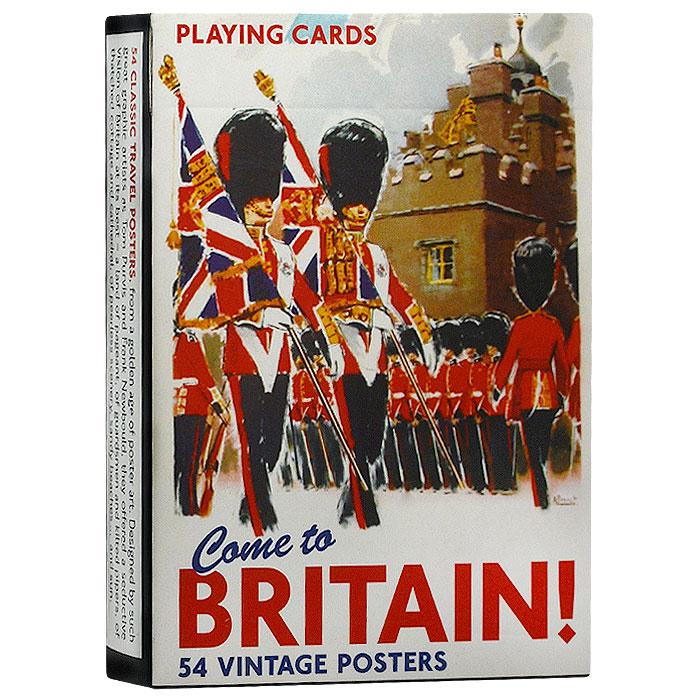 Коллекционные игральные карты Добро пожаловать в Англию, 55 листов. 13471347Коллекционные игральные карты выполнены из картона с пластиковым покрытием и оформлены изображениями постеров, посвященных Великобритании. Карты имеют стандартный индекс, гладкую поверхность и стандартный размер.