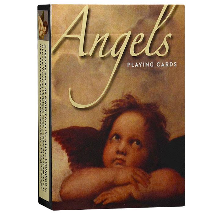 Карты игральные коллекционные Piatnik Ангелы, 55 карт. 14331433Коллекционные игральные карты выполнены из картона с пластиковым покрытием. В основу оформления колоды легли изображения очаровательных винтажных ангелов. Карты имеют стандартный индекс, гладкую поверхность и стандартный размер.