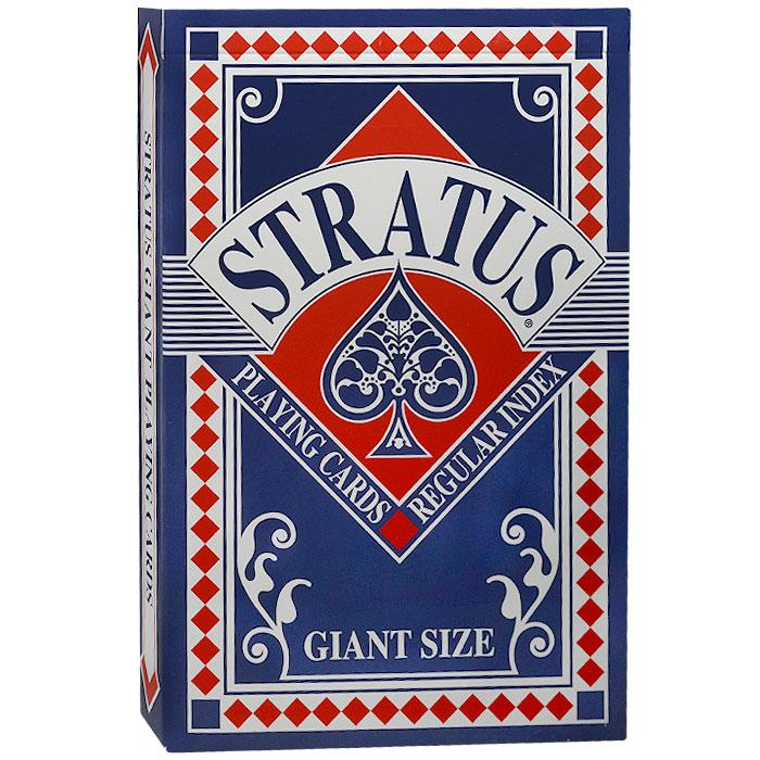 Карты игральные коллекционные Cartamundi Stratus. Giant size, цвет: синий, 54 карты. 106308524с106308524сКоллекционные игральные карты Stratus выполнены из картона с пластиковым покрытием с рубашкой синего цвета. Карты имеют стандартный индекс, гладкую поверхность и увеличенный размер (Giant size).