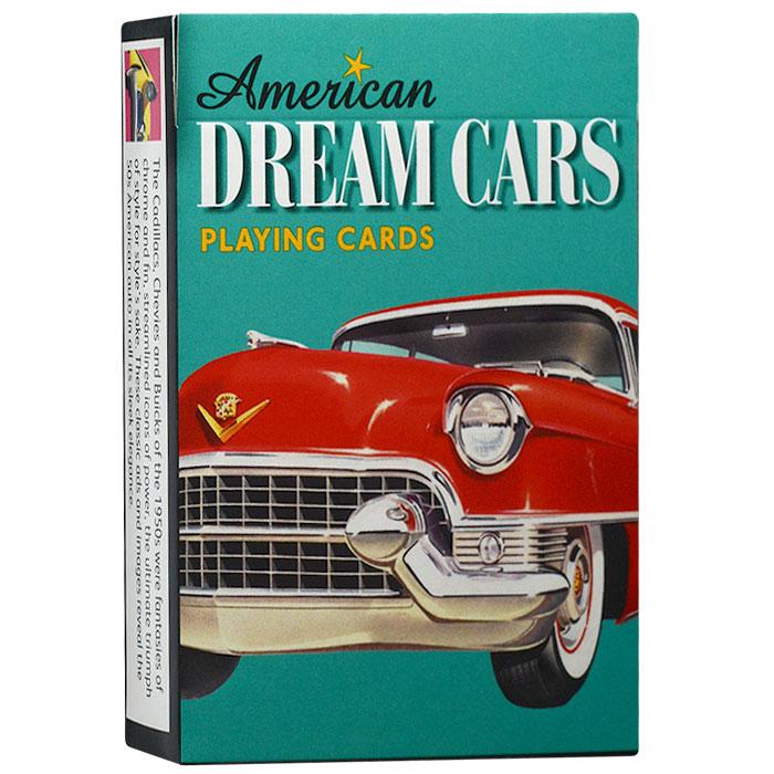 Карты игральные коллекционные Piatnik Американские автомобили мечты, 55 карт. 16201620Коллекционные игральные карты Американские автомобили мечты выполненные из картона с пластиковым покрытием и оформлены уникальными изображениеями американских автомобилей 50-х годов. Карты имеют стандартный индекс, гладкую поверхность и стандартный размер.
