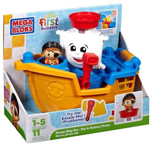 Mega Bloks First Builders Конструктор Пиратский корабль