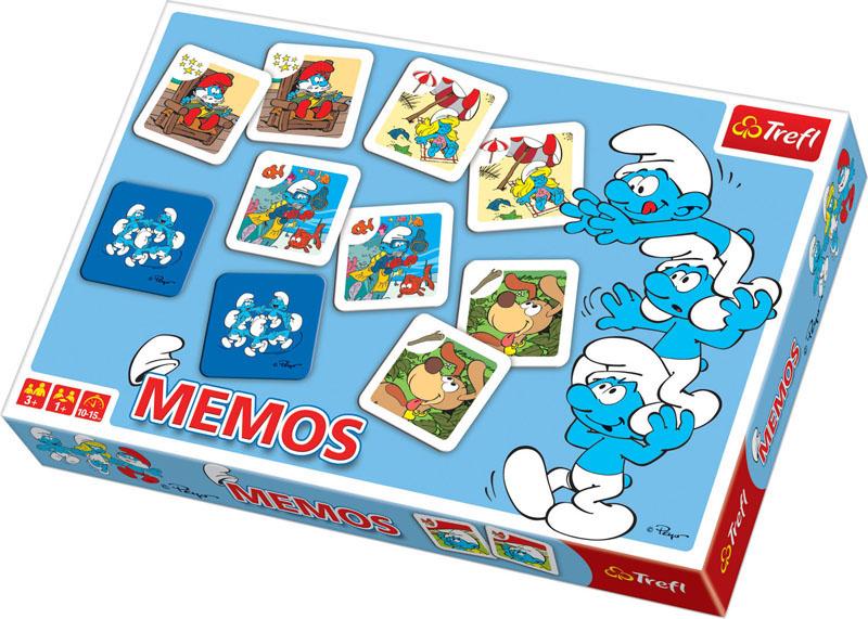 Настольная игра Мемо: Смурфы00784TНастольная игра Мемо: Смурфы позволит тренировать память, внимательность и концентрацию в ходе увлекательного процесса. На 60 карточках вы найдете 30 парных изображений героев популярного мультфильма Смурфики. В ходе игры карточки раскладываются лицевой стороной вниз. Затем игрок открывает две из них и снова кладет лицом вниз. Цель игры: открывая по две карточки, собрать парные изображения. Кто наберет больше – тот и победил. В комплект входит: 60 парных карточек с изображением героев.