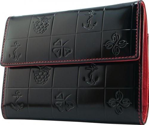 Бумажник водителя Dimanche Bonbon, цвет: черный. 517517Стильный бумажник водителя Bonbon выполнен из натуральной лаковой кожи с фактурным тиснением. На внутреннем развороте расположено два вертикальных кармана из кожи, пять наборных кармашков для кредиток или визитных карточек, прозрачный блок из шести карманов для документов и два вертикальных кармана для бумаг. Бумажник закрывается при помощи клапана на кнопку. Бумажник не только поможет сохранить внешний вид ваших документов и защитит их от повреждений, но и станет ярким аксессуаром, который подчеркнет ваш образ. Бумажник водителя упакован в подарочную картонную коробку с логотипом фирмы.