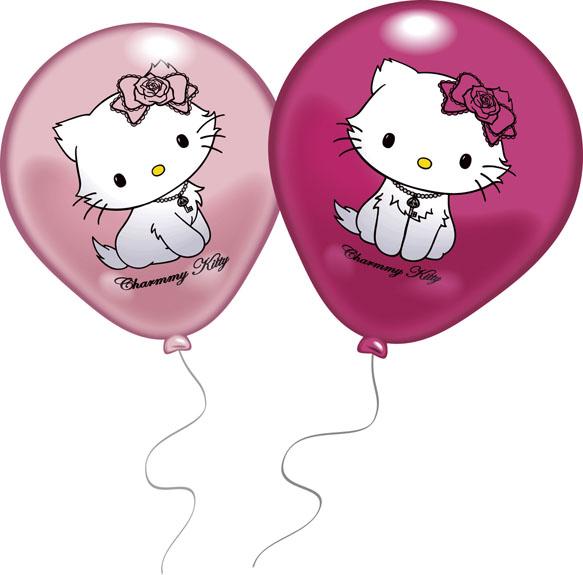 Набор воздушных шариков Everts Hello Kitty, 8 шт483766FНабор надувных шариков Everts Hello KItty для декорирования поможет Вам необычно украсить комнату к празднику. Шарики розовых цветов украшены рисунками кошечки Китти. Они изготовлены из безопасных материалов. Положительные эмоции и праздничное настроение будут на высоте!