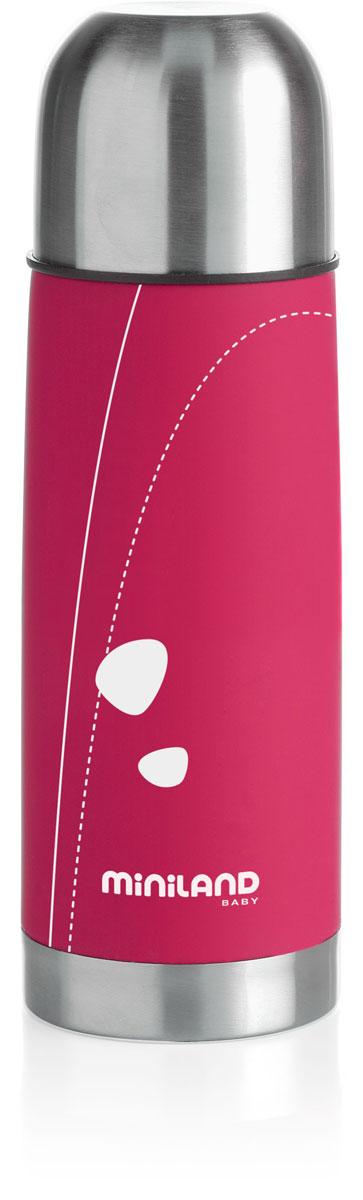 Термос для жидкостей Miniland Soft Thermo, цвет: фуксия, 330 мл