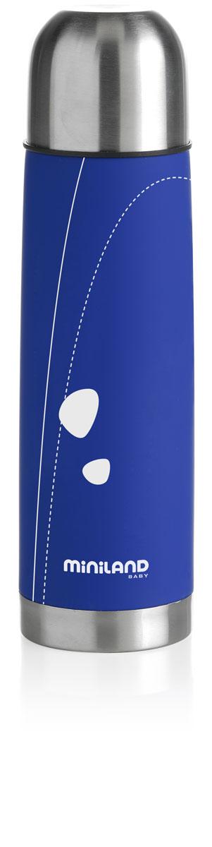 Термос для жидкостей Miniland Soft Thermo, цвет: синий, 500 мл