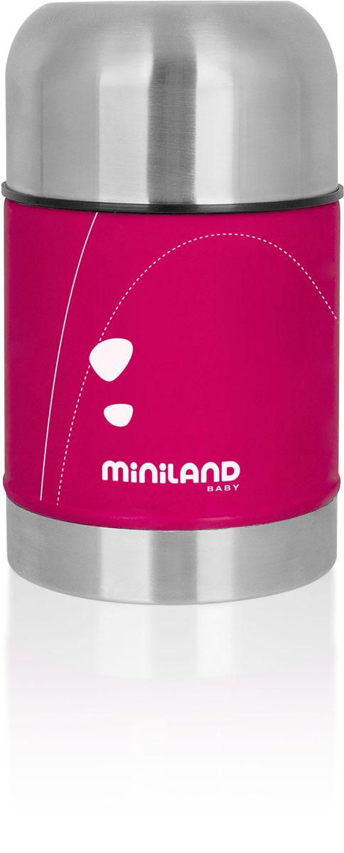 Термос Miniland Soft Thermo Food для детского питания, с сумочкой, цвет: фуксия, 600 мл89122Термос для детского питания Miniland Soft Thermo Food позволит покормить ребенка вне дома, что очень удобно во время поездок и путешествий. Он сохранит еду или напитки ребенка определенной температуры. Корпус термоса выполнен из прочной нержавеющей стали, которая гарантирует максимальную гигиену и надежность. Термос закрывается плотно и герметично завинчивающейся крышкой и сверху пластиковым колпаком, который можно использовать в качестве чашки. В комплект с термосом входит сумочка, застегивающаяся на молнию. Благодаря специальному материалу она замедляет остывание/нагревание содержимого термоса. С помощью липучки ее можно пристегнуть к коляске или сумке.