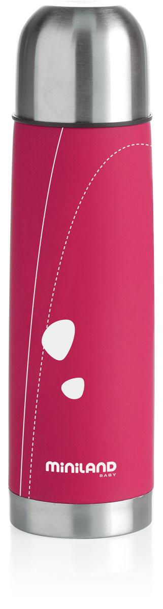 Термос для жидкостей Miniland Soft Thermo, цвет: фуксия, 500 мл