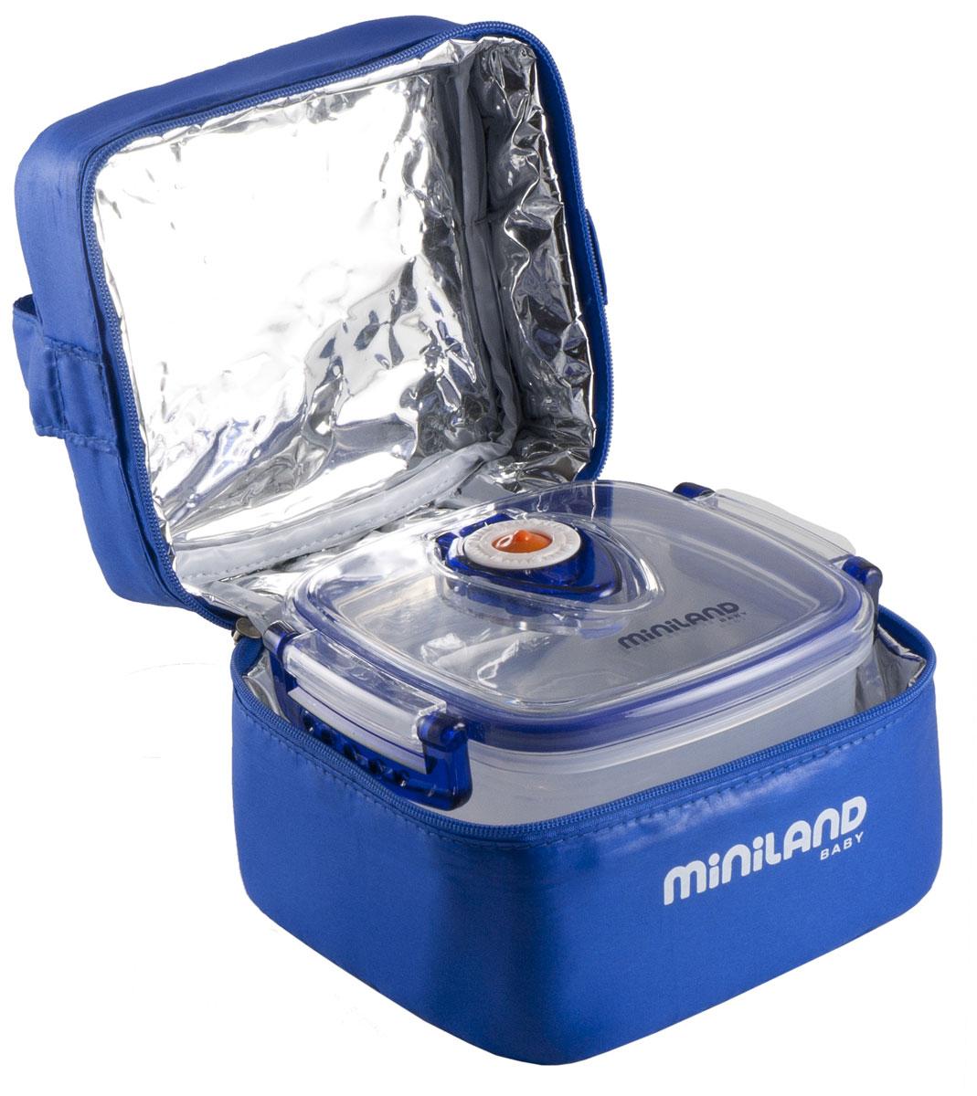 Термосумка Miniland Pack-2-Go Hermifresh, с контейнерами, цвет: синий