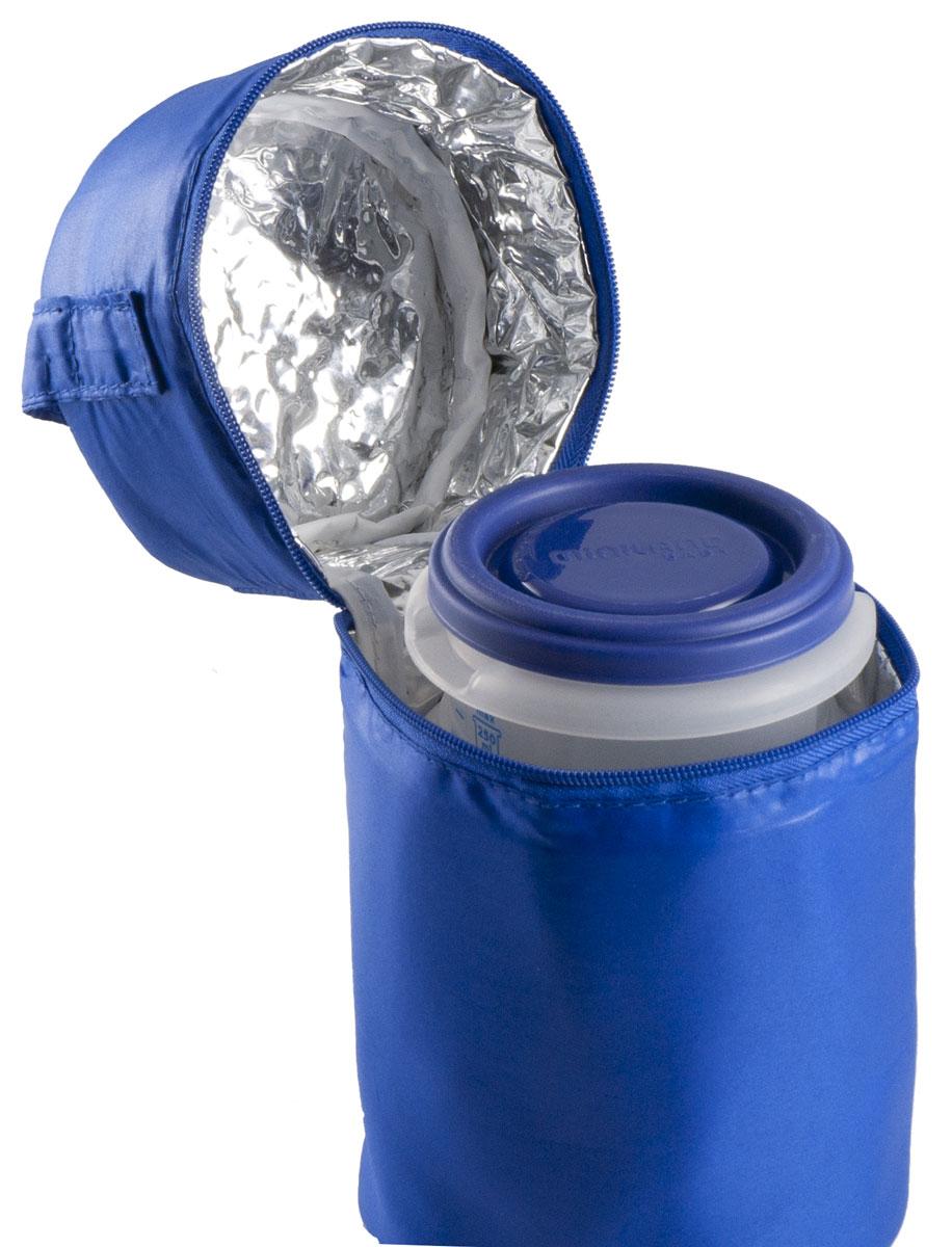 Термосумка Miniland Pack-2-Go Hermisized, с контейнерами, цвет: синий89071Термосумка Miniland Pack-2-Go Hermisized позволит покормить ребенка вне дома, что очень удобно во время поездок и путешествий. Она сохранит напитки или еду для ребенка определенной температуры. Благодаря внутреннему фольгированному слою сумка способна поддерживать как высокую, так и низкую температуру длительное время. В комплект с сумкой входят два пластиковых контейнера по 250 мл, которые отлично подойдут для хранения детского питания, пюре и каш. Они плотно закрываются крышкой, шкала на стенках позволяет легко дозировать питание. Не содержат Бисфенол А.