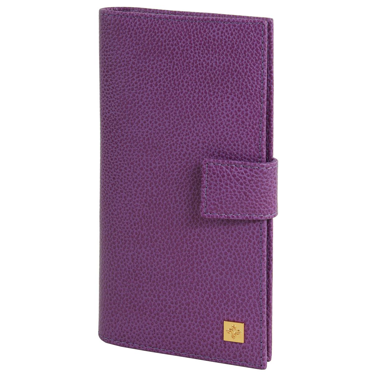Портмоне женское Optima Dimanche Purpur, цвет: пурпурный. 107107Стильное женское портмоне Optima выполнено из высококачественной натуральной кожи с тиснением. Портмоне закрывается при помощи хлястика на кнопку. Внутри - четыре отделения для купюр, одиннадцать кармашков для визиток, карман на молнии для монет и два кармашка для sim-карт. Портмоне упаковано в фирменную картонную коробку. Характеристики: Материал: натуральная кожа, текстиль, металл. Размер портмоне: 18,5 см х 8,5 см х 3 см. Цвет: пурпурный.